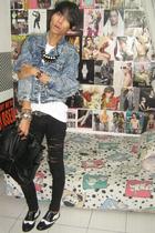 levis vintage jacket - Topman t-shirt - Mango jeans - vintage belt - custome mad