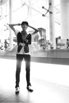 Zara t-shirt - Zara jeans - custome made shoes - Topman scarf
