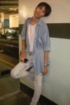 Zara shirt - t-shirt - Zara jeans - vintage belt - casio accessories
