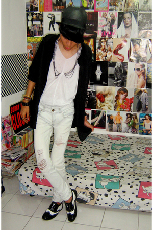 Zara hat - shirt - Zara top - Zara jeans - custome made shoes