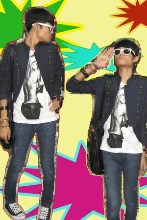 Topshop jacket - t-shirt - Zara jeans - Converse shoes - Topman accessories - Fo