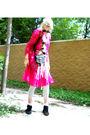 Pink-unknown-brand-dress-white-unknown-brand-shirt-beige-no-brand-belt-ame