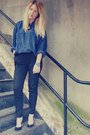 Navy-silk-vintage-shirt-navy-upper-street-shoes-heels