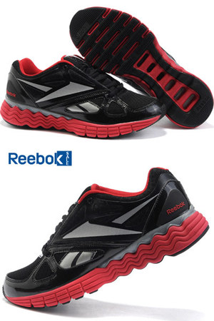 black synthetic upper Reebok shoes