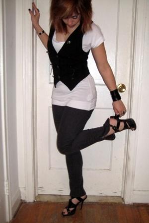 Abbey Dawn vest - H&M t-shirt - forever 21 pants - Bakers shoes - accessories