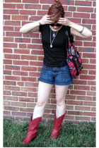 H&M shirt - Mossimo shorts - Ebay shoes - Betsey Johnson purse