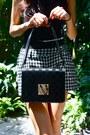 White-market-find-shorts-black-louis-vuitton-purse