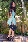 Black-accessorize-purse-aquamarine-boutique-dress-black-aldo-heels