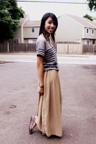 beige American Apparel skirt - pink Urban Outfitters shoes - gray Gap t-shirt