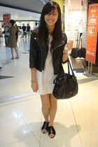 jacket - dress - Esprit - shoes
