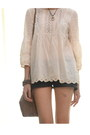 Zara-blouse-nudie-shorts-wedges-vintage-necklace