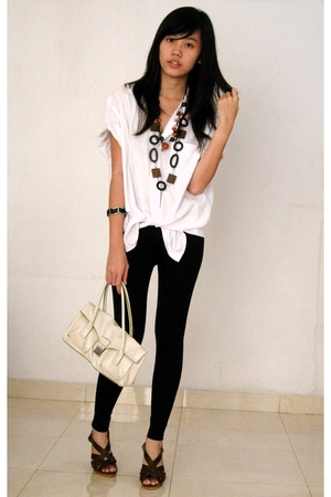Zara Man shirt - Gaudi tights - Mango - Gaudi bracelet - - necklace