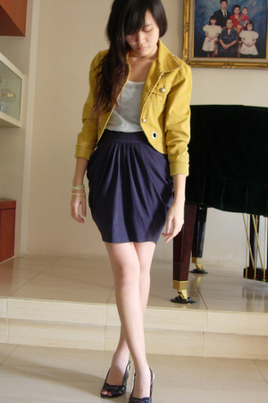 t-shirt - Gaudi jacket - skirt - shoes