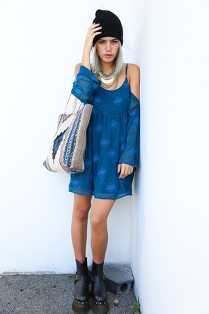 black boots TUK Shoes boots - navy Gentle Fawn dress