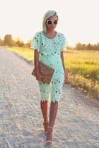 aquamarine crochet top style moi shirt - camel cork clutch Street Level Bags bag