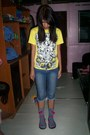 Heather-gray-socks-navy-diy-jeans-yellow-t-shirt