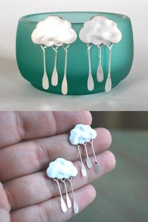 rain cloud earrings