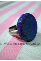 purple glitter ring