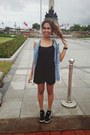 Black-skort-zara-shorts-black-cotton-forever-21-top