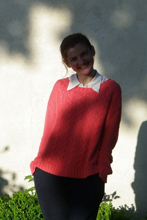 salmon cotton Petit Bateau sweater