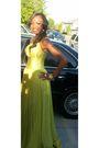 Green-jovani-dress-gold-earrings-gold-accessories