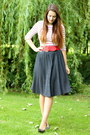 Black-outlet-store-shoes-black-polka-dot-vintage-skirt-red-accessorize-belt
