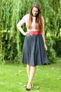 Black-outlet-store-shoes-black-polka-dot-vintage-skirt-red-accessorize-belt