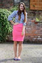 worn as a top vamastyle dress - pencil H&M skirt - peep toe next flats