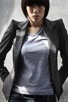 Nanushka blazer - shirt - Wrangler jeans - LD Tuttle boots