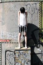 white t by alexander wang top - black Alexandre Herchcovitch shorts - gray campe