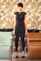 Black Milk leggings - Lagence dress - Premiata pumps