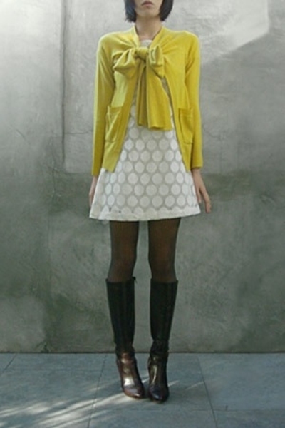 Opening Ceremony sweater - H&amp;M dress - Wolford tights - Miss Sixty boots