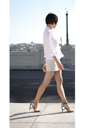 asos shirt - Hussein Chalayan skirt - LD Tuttle heels