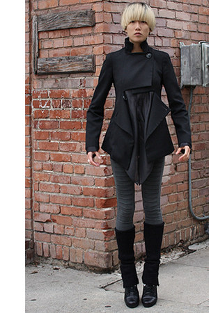 black vivienne westwood coat - gray Cheap Monday leggings - black Y-3 shirt - bl
