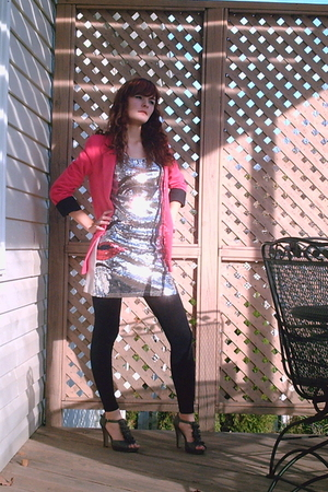 Topshop blazer - Nollie leggings - Madden Girl shoes - dress