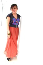 gray Topshop top - charcoal gray Forever 21 belt - salmon maxi Forever 21 skirt