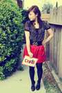 Red-forever-21-skirt-black-forever-21-blouse-black-forever-21-top-gold-for