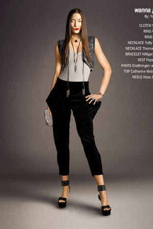 gray Pepe Jeans vest - black Drottningen av Saba pants - black Hoss Intopio shoe