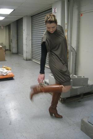 Zara dress - Frye boots