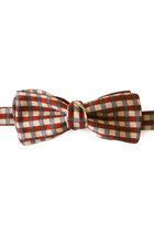 Burgundy gray lilic marker pen plaid bow tie