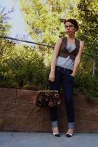 brandless vest - Gap top - Levis jeans - brandless purse