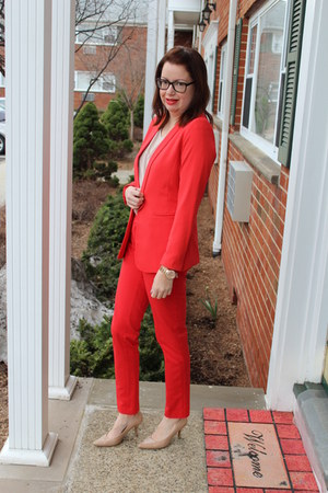 H&M blazer - Payless shoes - TJ Maxx pants
