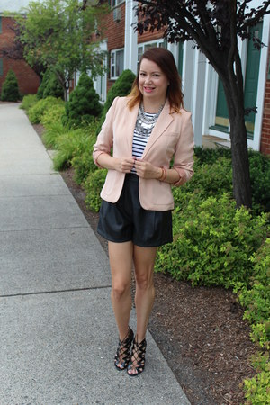 hm necklace - Target shoes - Forever 21 blazer - Zara shorts