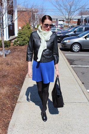 faux leather TJ Maxx jacket - booties Payless boots - Uniqlo scarf