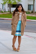 JCrew coat - Vinatge top - jason wu x target skirt - NyLa sandals