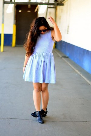 black Jeffrey Campbell boots - American Apparel dress