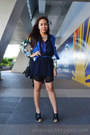 Blue-floral-redhead-blazer-navy-sheer-cover-up-cotton-on-top