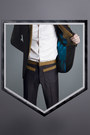 White-club-collar-duly-equipped-shirt-dark-gray-duly-equipped-pants
