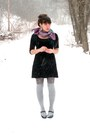 Black-mary-jane-payless-shoes-black-tjmaxx-dress-periwinkle-tjmaxx-tights-