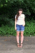 white france Urban Outfitters shirt - navy denim Gap shorts